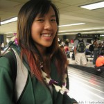 lei'd Naomi at the baggage carousels