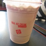 My blackberry milkshake from Jack in the Box
