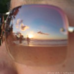 take 1 of the sunset in Connie's sunglasses (blurry) (take 2 at the end)
