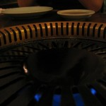 The grill in the table