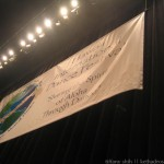 banner for the dance festival on the stage
